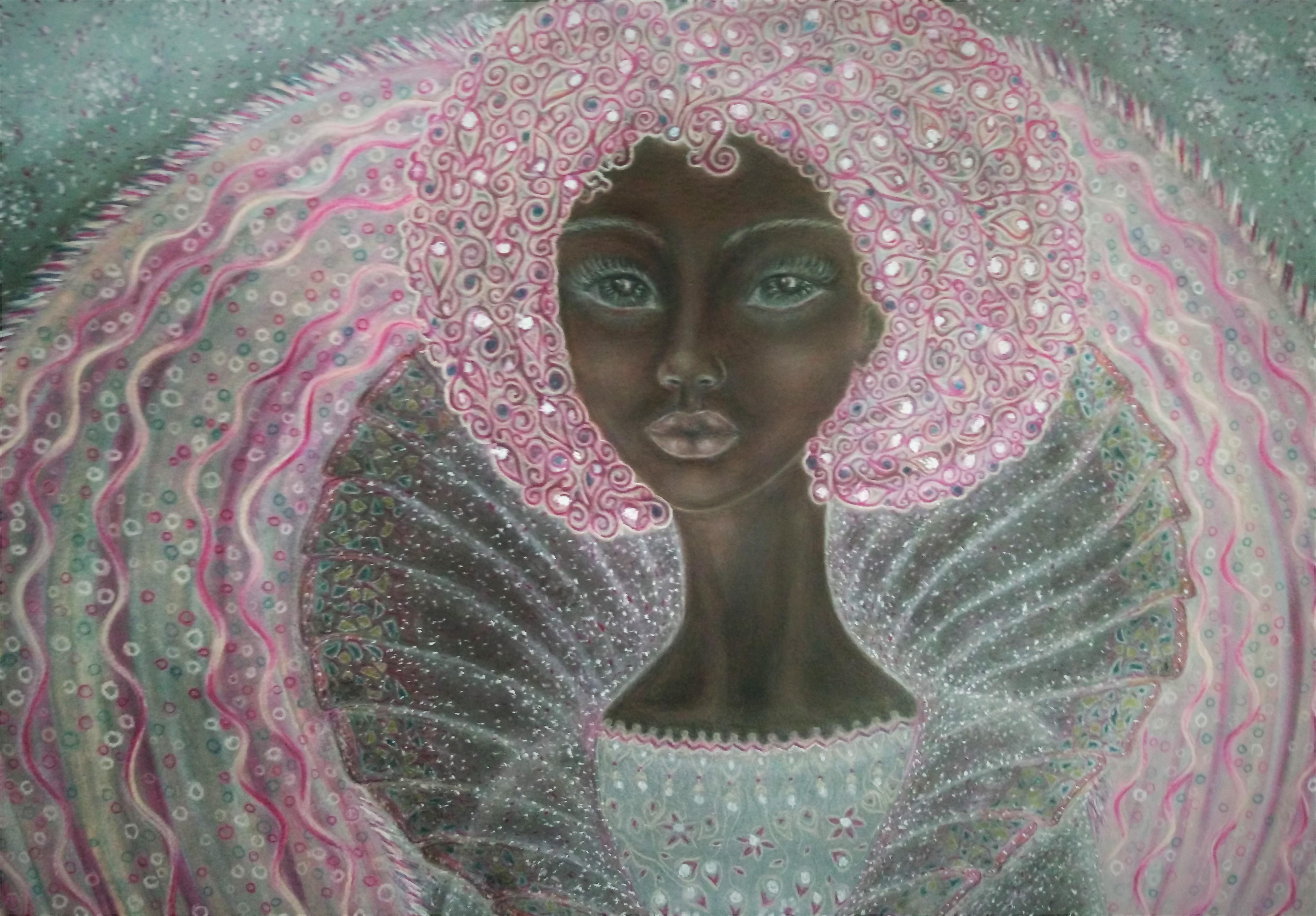 art, drawing, contemporary art, chalk pastel, shorena ratiani, amelia, visual art