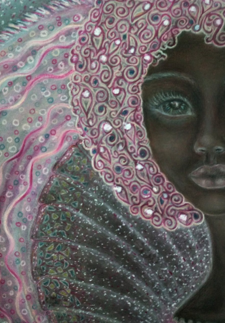 'Amelia'. Drawing by Shorena Ratiani. Chalk pastel on paper