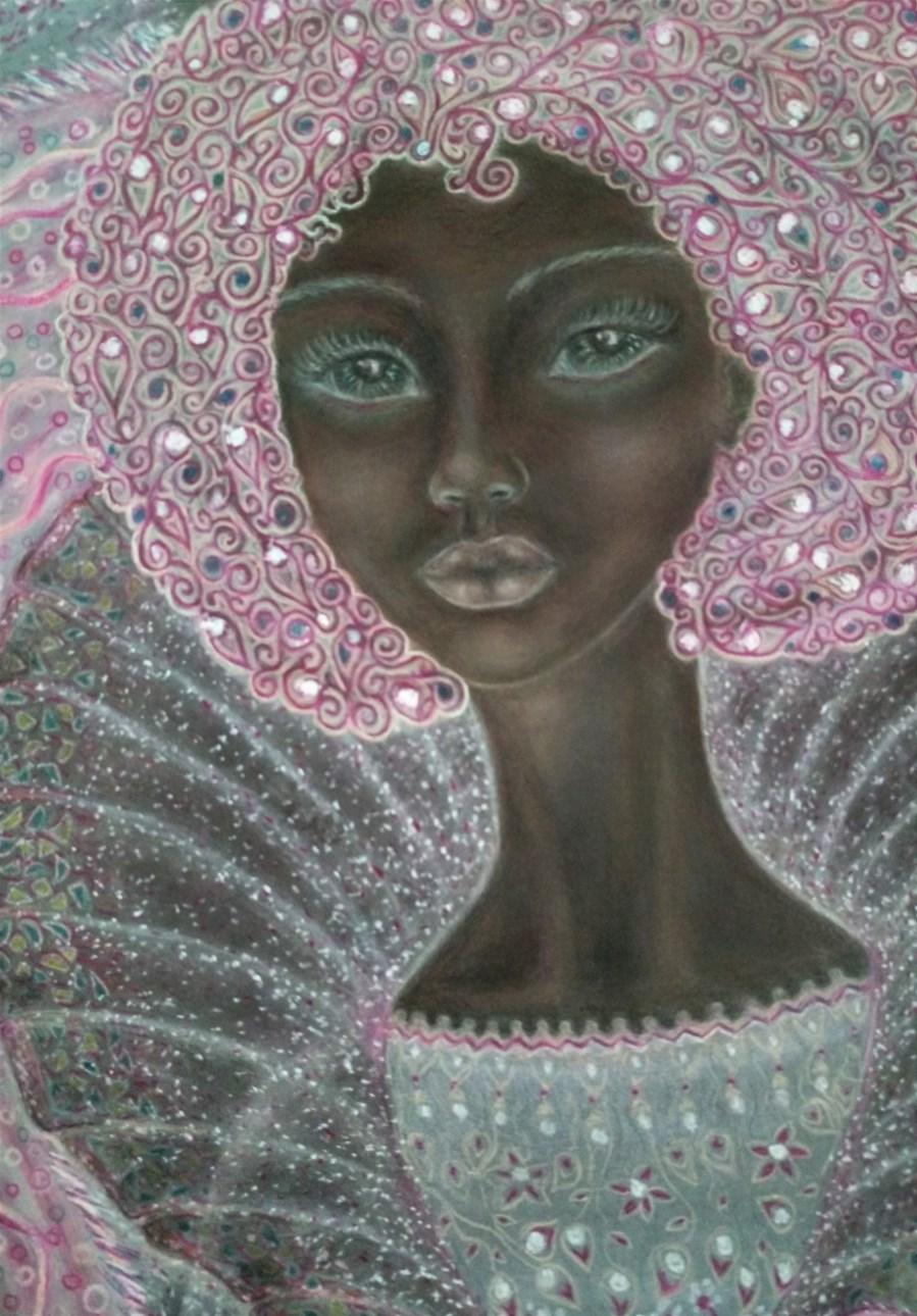 'Amelia'. Drawing by Shorena Ratiani. Chalk pastel on paper