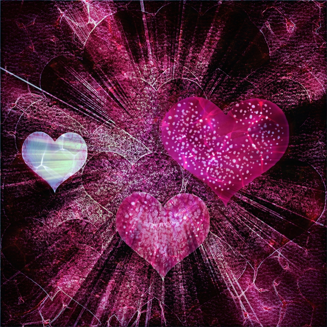 'Hearted'. Digital art by Shorena Ratiani
