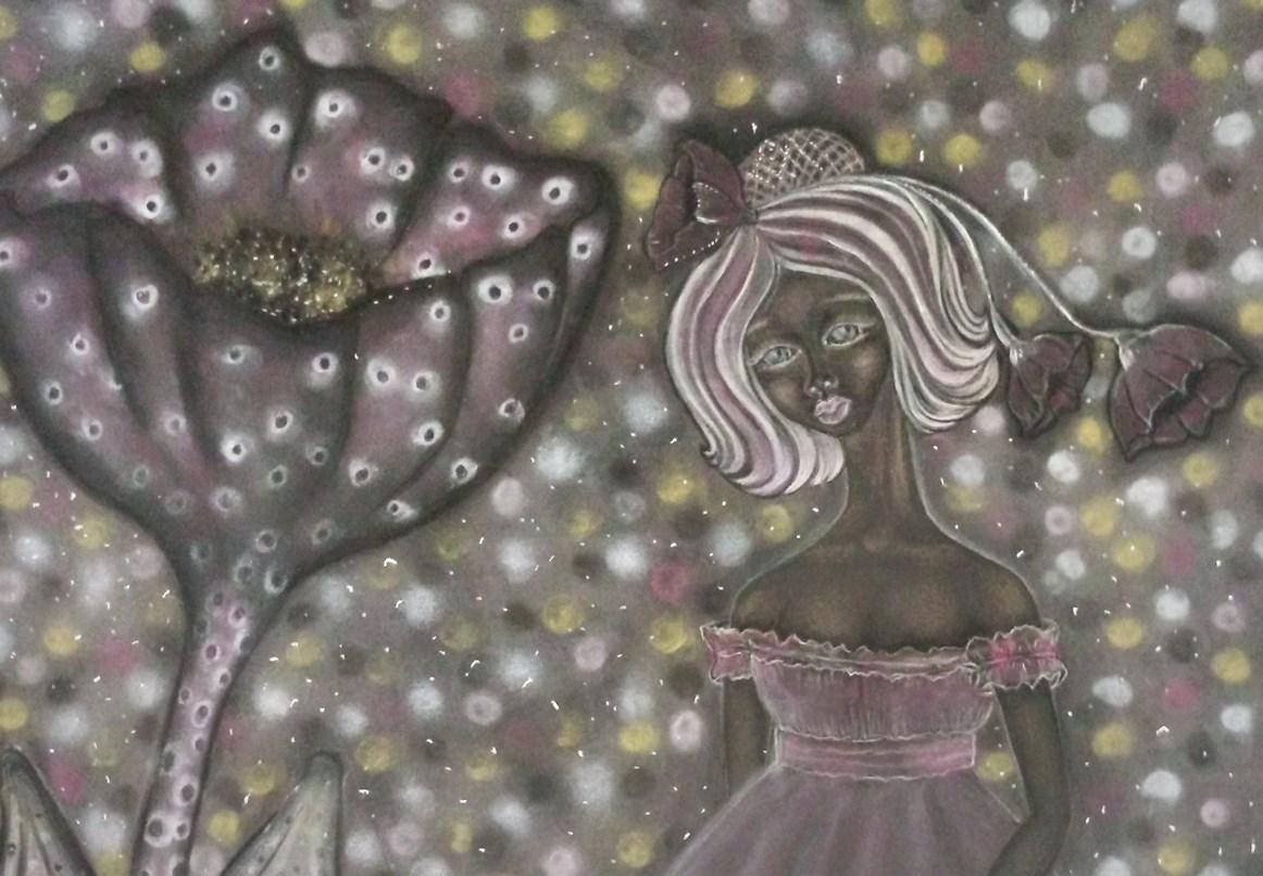 Lynette. Chalk pastel drawing by Shorena Ratiani