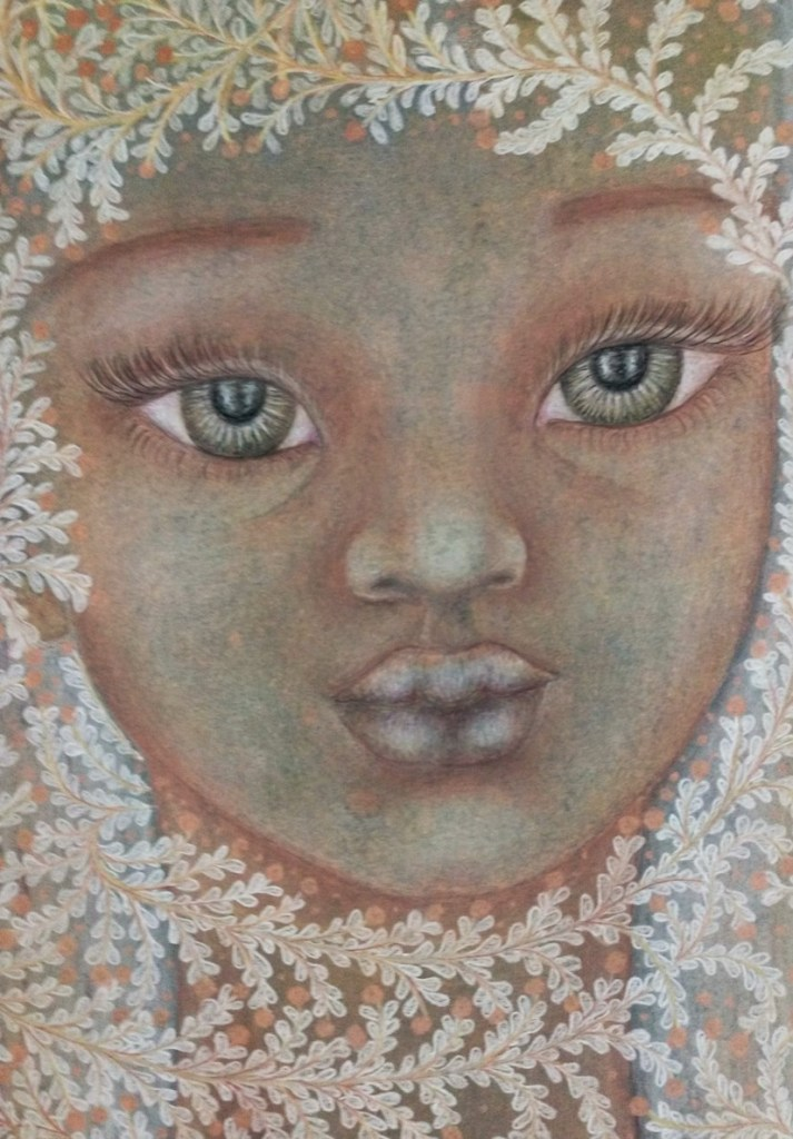 'Annabelle'. Drawing by Shorena Ratiani. Chalk pastel on paper.