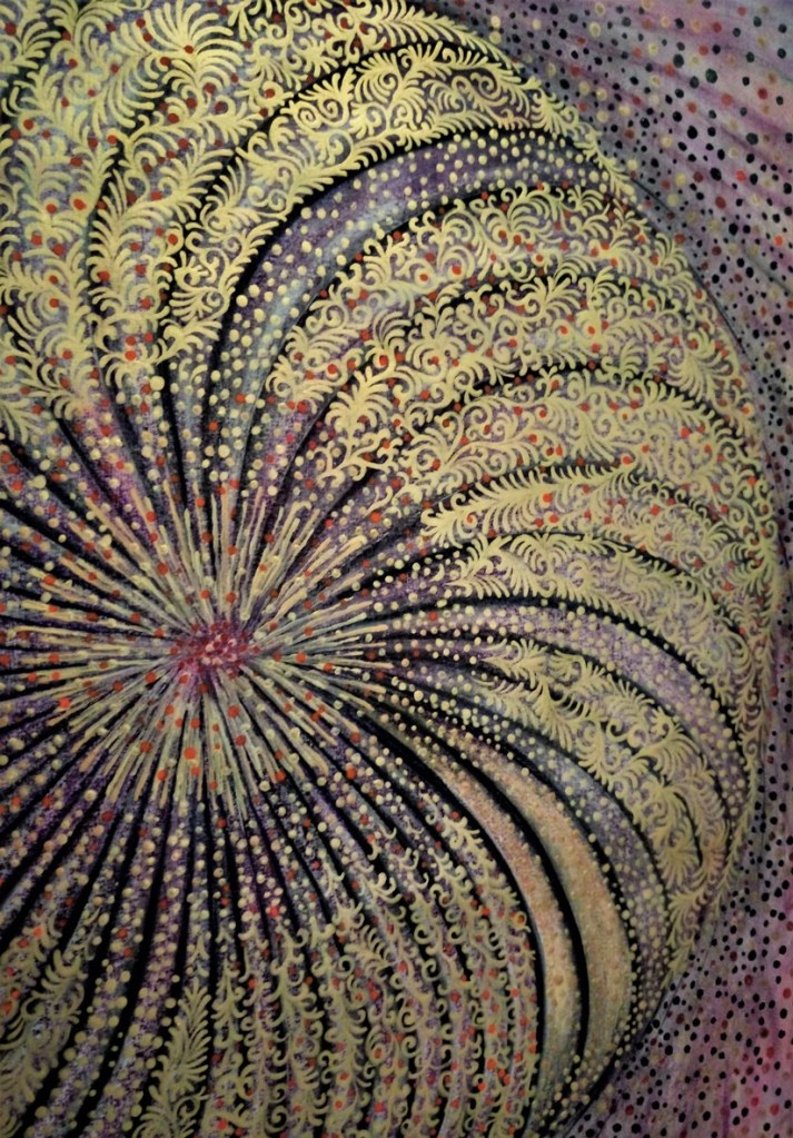 'Infinity Flower'. Painting by Shorena Ratiani.