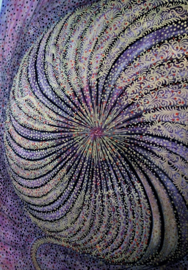 'Infinity Flower'. Painting by Shorena Ratiani. Tempera on paper.