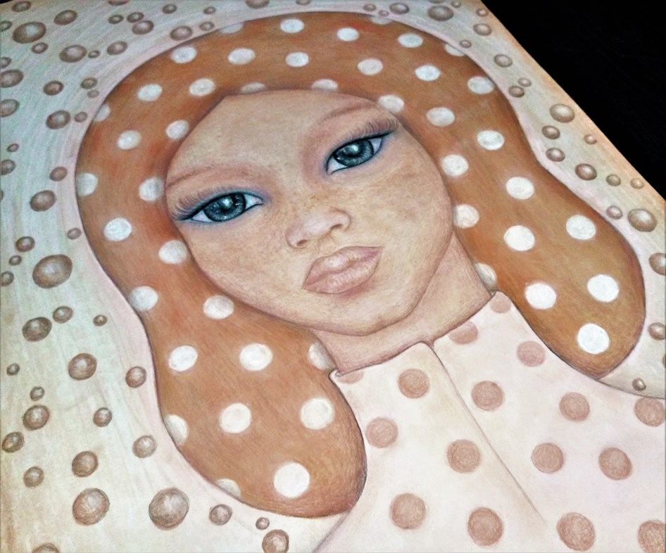 'Mathilda'. Drawing by Shorena Ratiani. Chalk pastel on paper.