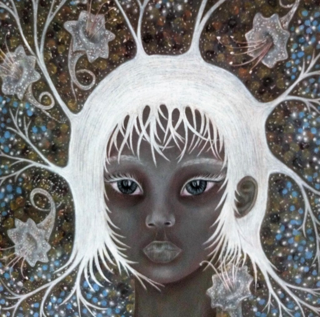 'Maya'. Drawing by Shorena Ratiani. Chalk pastel on paper.