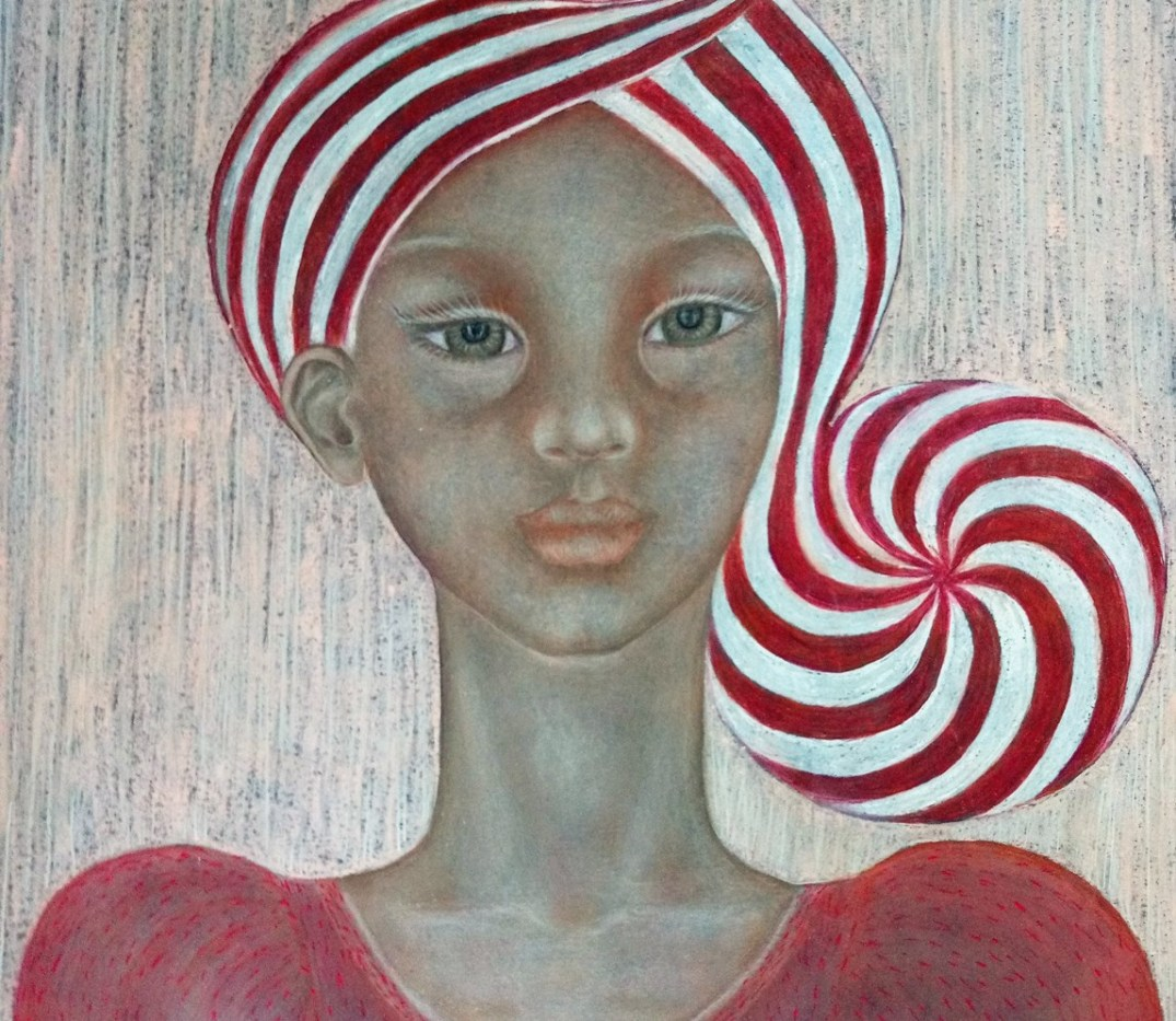 'Nicolette'. Drawing by Shorena Ratiani. Chalk pastel on paper.