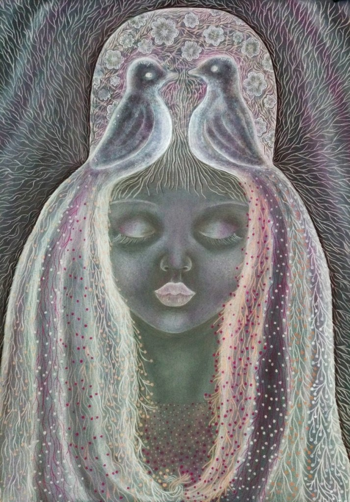 'Odette'. Drawing by Shorena Ratiani. Chalk pastel on paper.