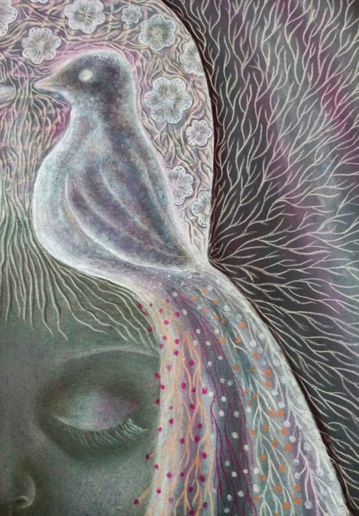 'Odette'. Drawing by Shorena Ratiani. Chalk pastel on paper.