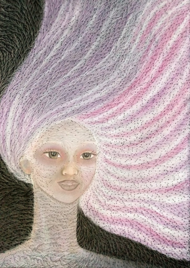 'Paulette'. Drawing by Shorena Ratiani. Chalk pastel on paper.