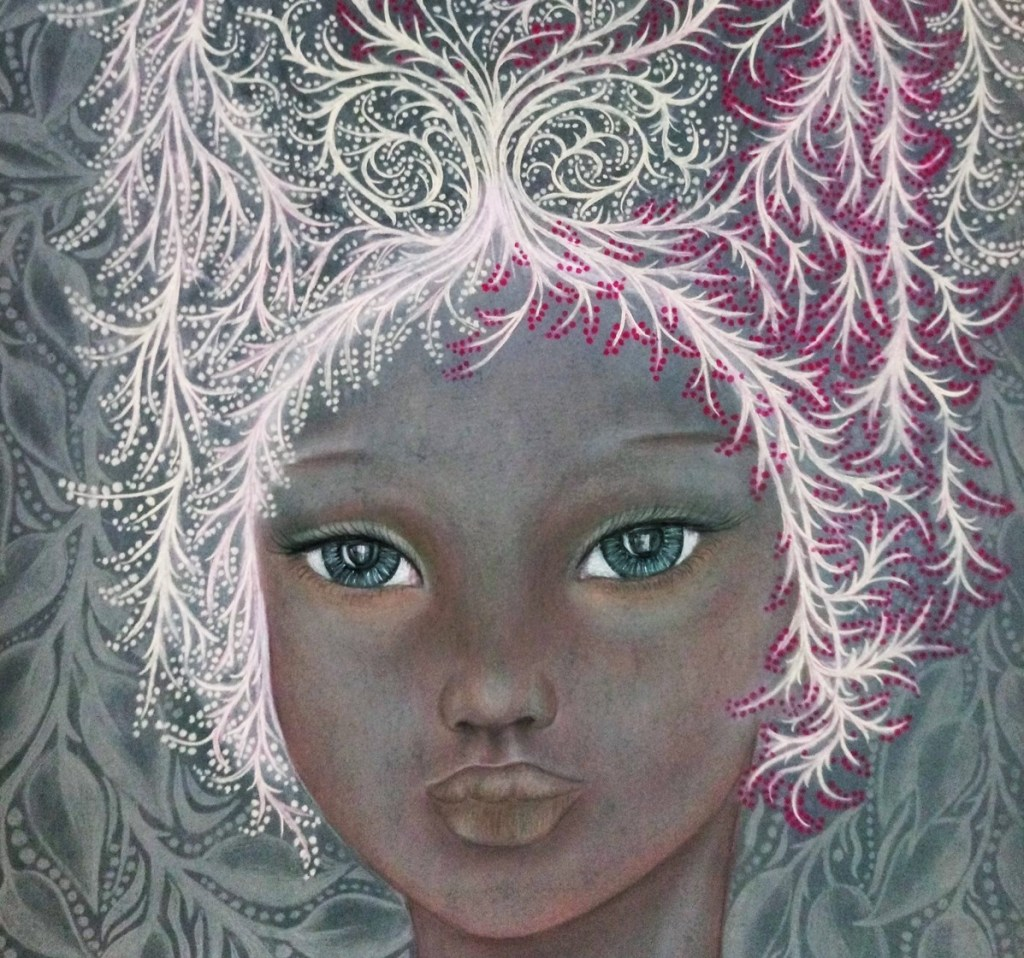 'Savannah'. Drawing by Shorena Ratiani. Chalk pastel on paper.
