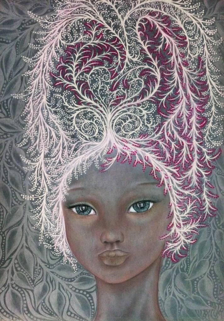 'Savannah'. Drawing by Shorena Ratiani. Chalk pastel on paper.