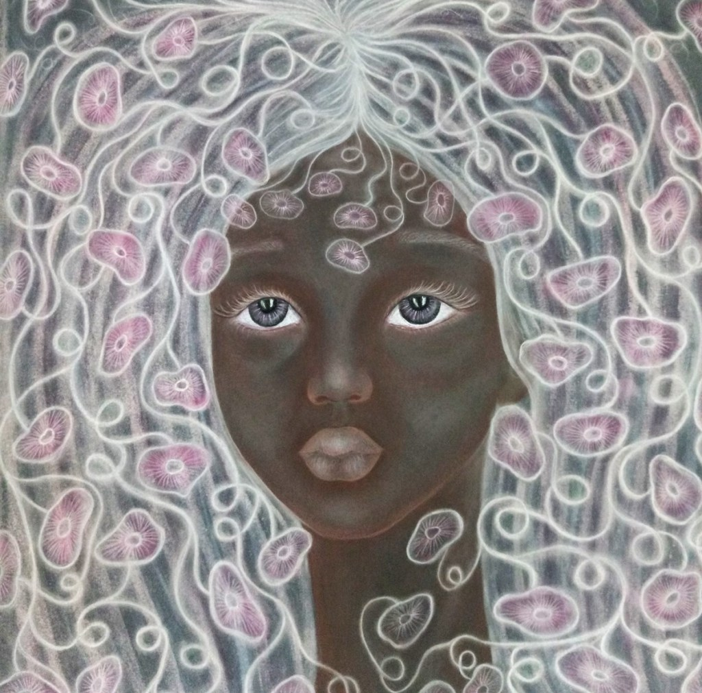 'Vivienne'. Drawing by Shorena Ratiani. Chalk pastel on paper.