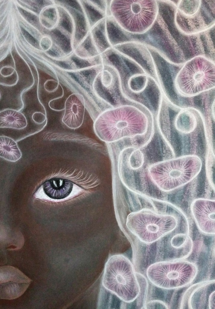 'Vivienne' by Shorena Ratiani. Chalk pastel on paper.