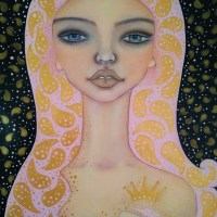 Another painting from Mystery Sisters collection: Sally